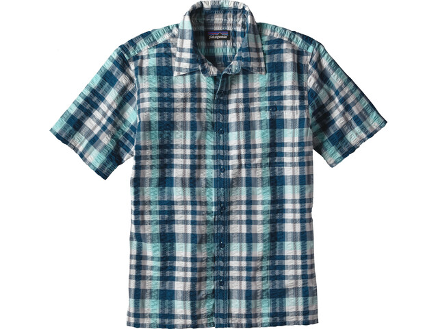 Patagonia Puckerware Shirt Men Transom:Big Sur Blue